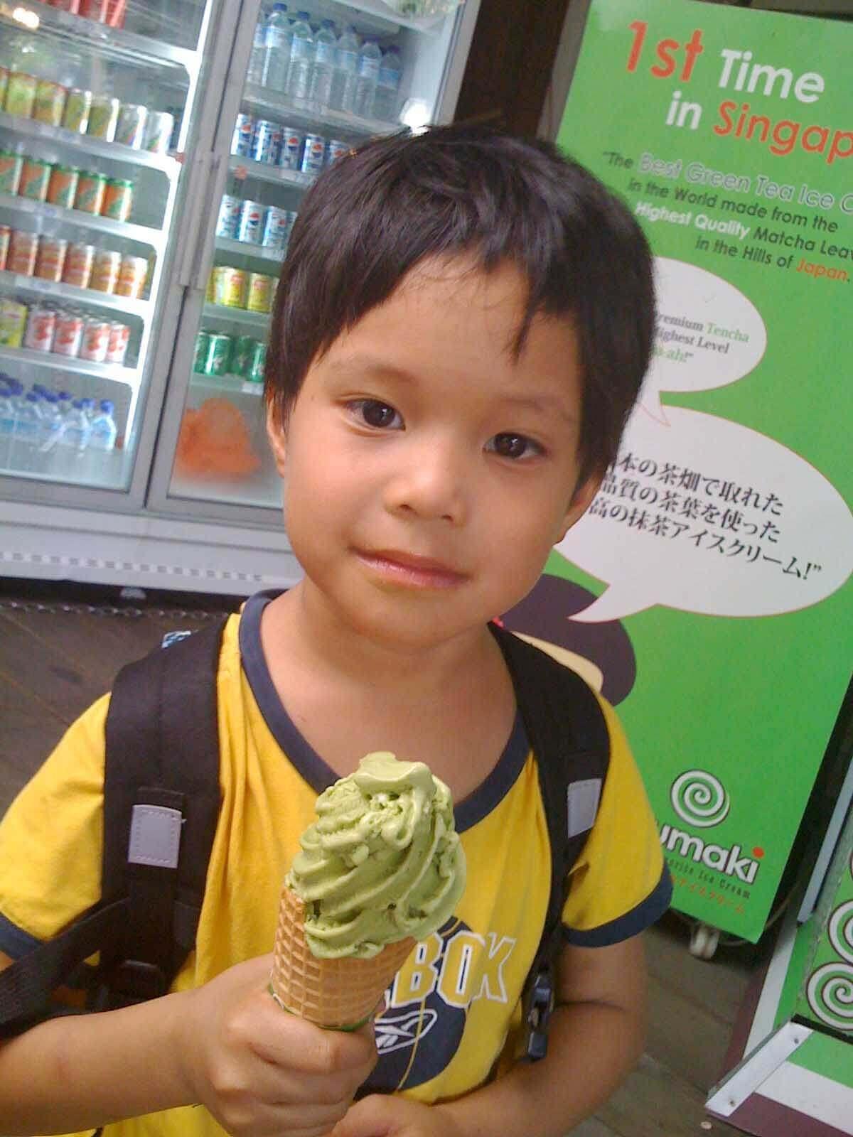 Uzumaki Ice Cream, matcha ice cream